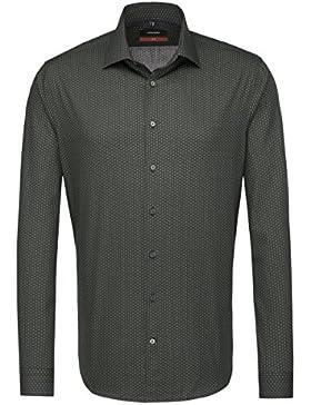 SEIDENSTICKER Herren Hemd Slim 1/1-Arm Bügelleicht City-Hemd Kent-Kragen Kombimanschette weitenverstellbar