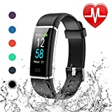 Letscom Fitness Tracker, Heart Rate Monitor Watch with Color Screen, IP68 Waterp