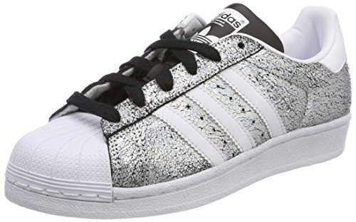 adidas Damen Superstar Gymnastikschuhe, Silber (Supplier Colour/Ftwr White/Core Black), 36 EU (Adidas Damen Superstar Trefoil)
