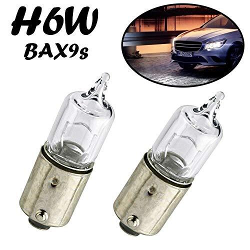 2x Jurmann H6W 12V BAX9S Standard Hecklicht Parklicht Rückfahrlicht Standlicht Kennzeichenlicht Einrichtunglicht Ersatz Halogen Auto Lampe E-geprüft