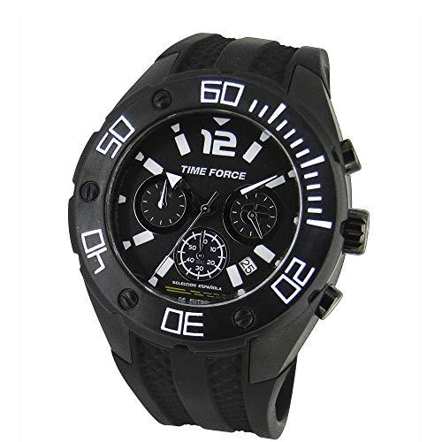 TIME FORCE Reloj Cronógrafo para Hombre de Cuarzo con Correa en Caucho TF-4145M11
