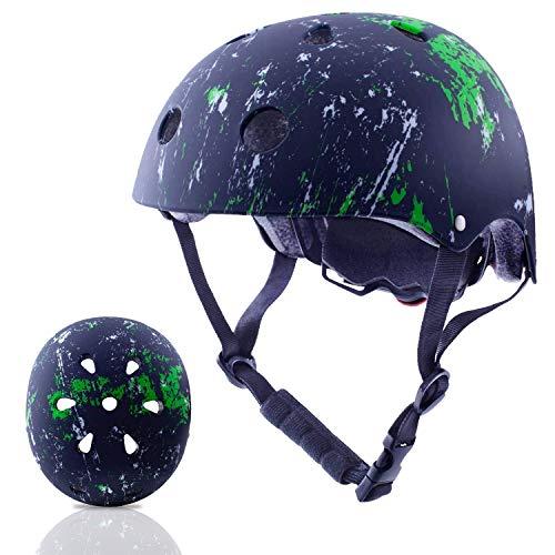 Exclusky Kinder Helm Skateboard BMX Fahrrad Sport-Helm for Jungs Mädchen 3-8 Jahre -