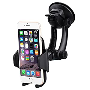 [Nouveauté] Support voiture Mpow Go Pro 2, avec le bras flexible à deux sections, la rotation à 360 degrés, fixé stablement sur le pare-brise et le tableau de bord par la ventouse , compatible avec tous les appareils à largeur de 40-100 mm, iPhone, Samsung Galaxy S6/S6, Note, Huawei, LG G4/G3, HTC one plus, GPS, etc.
