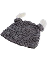 MagiDeal Viking Chapeau Tricot Corne Ox Bonnet Costumes Cosplay  Photographie Laine - Enfant Adulte c7d169ef4c6