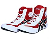 Excido Boys White, Red Synthetic Leather, Mesh Kabbadi Sport Shoes (ks01, Size: 36 Euro)