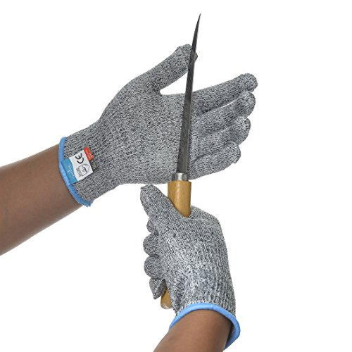 FishingSir schnittfeste Handschuhe - sicher arbeiten, schützender rostfreiher Stahldraht, anti-Schnitt Angelhandschuhe