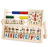 Juguetes educativos,Internet Juguetes Aritméticos De Los Niños Niños Bebés Aprendiendo Desarrollo Versátil Colgajo ábaco Juguetes De Madera (Como se muestra)