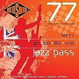 Rotosound Jazz Bass Jeu de cordes pour basse Monel Filet plat Tirant hybrid (40 60 80 100) (Import Royaume Uni)