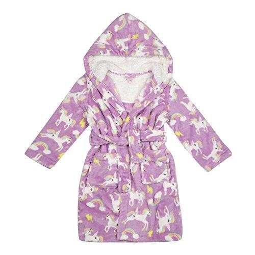Bluezoo Kids Girls' Lilac Unicorn Print Dressing Gown Test