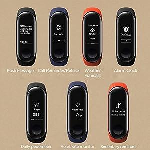 Xiaomi Mi Band 3 Reloje de Pulsera Inteligente Pulsómetros Activity Tracker Podómetro Impermeable Versión Internacional