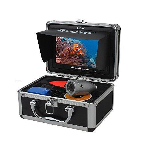 Eyoyo Buscador de peces 50m Cámara de pesca submarina 7 pulgadas TFT FHD LCD LED Luz 4500mAh IP68
