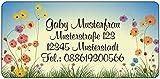 Adressaufkleber - Adressetiketten - Namensetiketten Feldblumen - 210 Stück 54 x...