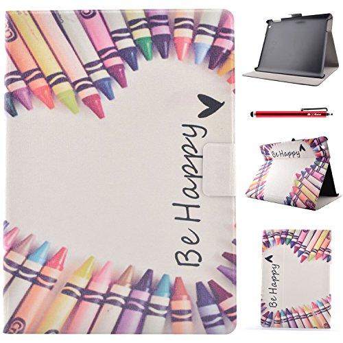 iPad 2 3 4 Hülle, BasicStock Ultra Slim Soft Silikon + PC Hybrid Smart Hülle Schutzhülle Cover Gehäuse für iPad 2 3 4 (Buntstift)