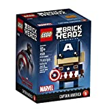 #8: LEGO Brickheadz Captain America, Multi Color