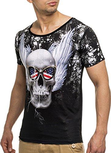 LEIF NELSON Herren T-Shirt LN20150362-FL Schwarz