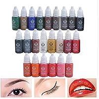 23 Unids Tinta Pigmento de Maquillaje Permanente 15 MM Cosméticos 23 Tinta de Tatuaje de Color Set pintura Para Microblading Ceja Labios Maquillaje