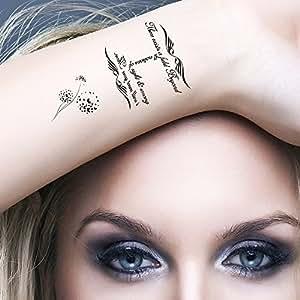 bling art tempor re tattoo unendlichkeit set mit 5 tattoos f r frauen in schwarz beauty. Black Bedroom Furniture Sets. Home Design Ideas