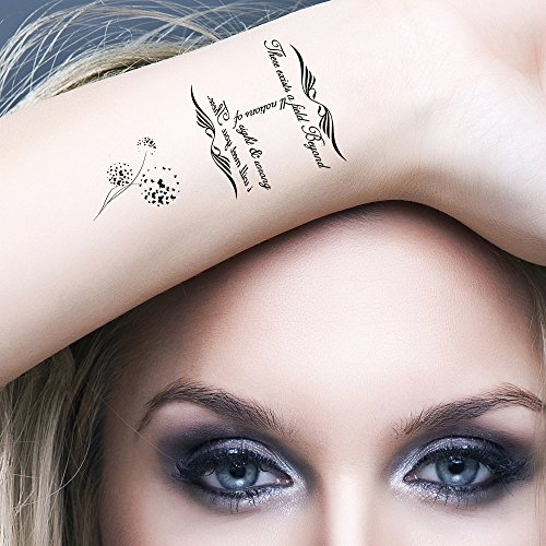 Tatouages Éphémères Bling Art Planche Éternité Noir de 5 Tatouage pour Femmes RU
