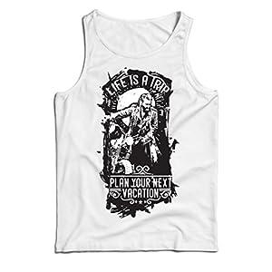 diseño web barato madrid: lepni.me Camisetas de Tirantes para Hombre la Vida es un Viaje - Ideas de Regalo...
