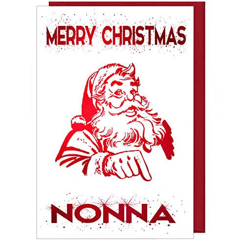 Sparkling Foiled Christmas Card - Merry Christmas Nonna