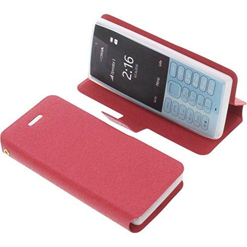 Tasche für Nokia 216 Book Style rot Schutz Hülle Buch