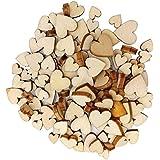 Lalang 100 St/ück Holzherzen Naturholzscheiben f/ür DIY Basteln Hochzeit Geburtztag Feiertag Dekoration