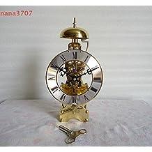 y-hui despertador mecánico cobre Polaris Radioscopie tiempo relojes reloj de escritorio accesorios Feng Shui del reloj de base mecánico TTF, 10en 31Días