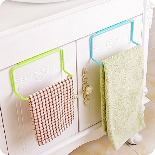 Generic Blue : New Towel Rack Hanging Holder Organizer Bathroom Kitchen Cabinet Cupboard Hanger