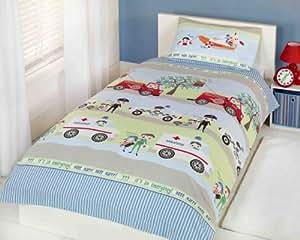 Set da letto copripiumino trapunta per bambini ragazzi - Letto singolo di emergenza ...