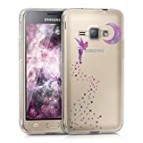 kwmobile Samsung Galaxy J1 (2016) Hülle - Handyhülle für Samsung Galaxy J1 (2016) - Handy Case in Pink Violett Transparent