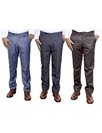 Indistar Combo Offer Mens Formal Trouser (Pack Of 3) - B01JRR0ENE