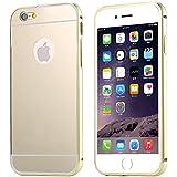 iphone 5S/ iphone 6/ iphone 6 Plus Caso-FLOVEME Espejo de Oro Galvanizar Fuerte Carcasas y Fundas para iphone 5S/ iphone 6/ iphone 6 Plus,de Oro