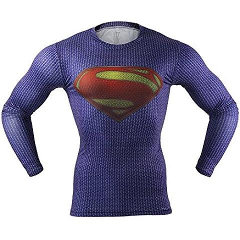 M.Baxter Camiseta de compresión deportiva para hombre de manga corta remera running y fitness (A,