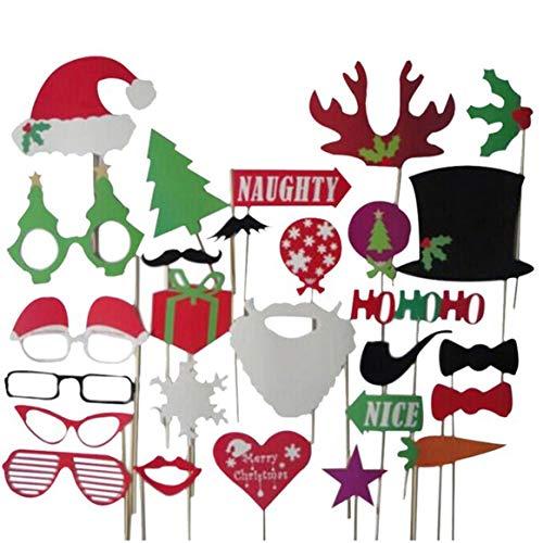 chnurrbart Foto Requisiten Geweih Weihnachten Hüte Großhandel ()