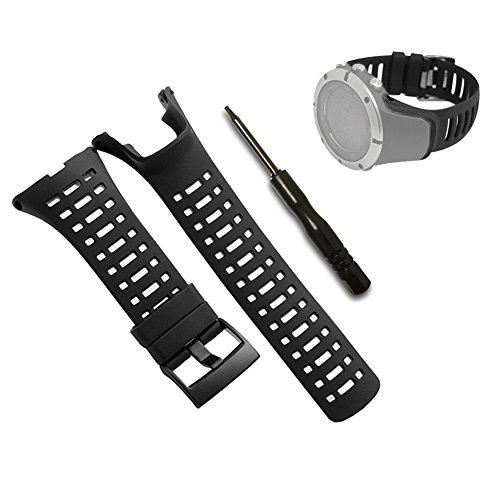 survolez la imagen para la agrandir correa para reloj, pulsera de repuesto negro suave para Suunto Ambit 122r 2S–Correa de reloj impermeable Premium 24mm–incluye destornillador