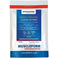 Muscleform CLUSTER DEXTRIN Highly Branched Cyclic Dextrin Powder- 1kg (2 x 500g Re-sealable Pouches) | Free Express Delivery