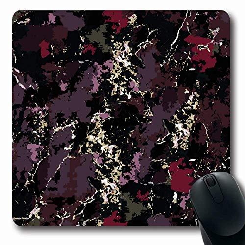 Luancrop Mousepads Exotic Able Dark Abstract Flüssiges Marmormuster Natur Achat Lila Künstlerische Kreative Decoupage rutschfeste Gaming Mouse Pad Gummi Längliche Matte -