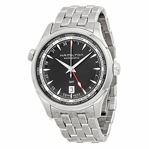 Hamilton Hamilton Jazz Master Black Dial GMT Stainless Steel Mens Watch H32695131
