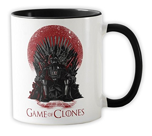035-Taza Star Wars - Game of Thrones - Game of Clones, Negro