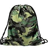 TIFIY 3D Unisex Damen Herren Besondere Muster Kordelzug Rucksack (Camouflage)