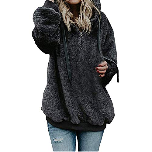 Manadlian Damen Mantel Winterjacke Frauen Sweatshirt Winter Mit Kapuze Mantel Warme...