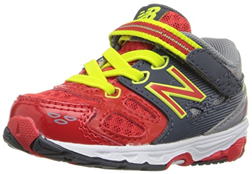 New Balance KA680 Infant Running Shoe (Infant/Toddler) Grey/Red