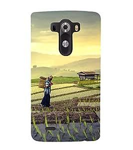 printtech Tea Leaves Plantation Back Case Cover for LG G3