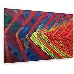 Luigi Russolo - Die Revolte - 75x50 cm - Leinwandbild auf Keilrahmen - Wand-Bild - Kunst, Gemälde, Foto, Bild auf Leinwand - Alte Meister/Museum