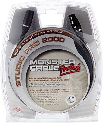 Monster Sp2000 Cable (Monster Cable SP2000-M-20 XLR Male auf XLR Female Instrumentenkabel (6 m))