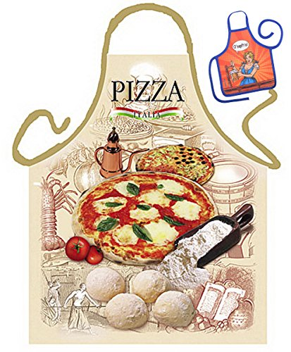 ze/Spaß-Grill/Kochschürze Rubrik Italien: Pizza - Geschenk-Set inkl. Mini-Schürze ()