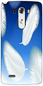 Snoogg Feathers Vector Designer Protective Back Case Cover For LG G3