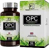 Extrait de pépins de raisin - 600mg | Avec 80 mg de vitamine C ajoutés par portion | SUPPORT ANTIOXYDANT PUISSANT | Pour le soutien cardiaque et immunitaire | Avec 70% d'OPC garanti (1 Bouteille)