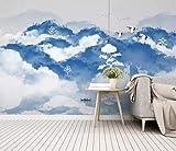 HONGYUANZHANG Abstrakte Landschaft Des Blauen Himmels Tapete Des Foto-3D Künstlerische Landschafts-Fernsehhintergrund-Tapete,116Inch (H) X 148Inch (W)