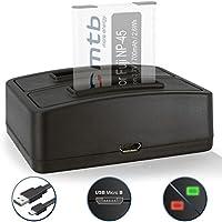 Caricabatteria doppio (USB) per Fujifilm NP-45 / Finepix J.. / JV.. / JX600 ../ JZ500.. / XP80 XP90... - vedi lista di compatibilità